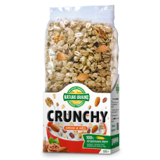 """Сухие завтраки """"Crunchy"""" с орехами и медом, 350 гр,"""